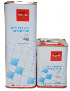 CARSYSTEM 2K CLEAR VOC SPEEDPLUS SADA 7500 ml